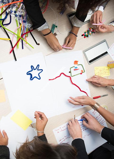 Image de présentation d'un atelier de co conception